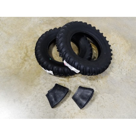 TWO New 5.90-15 American Farmer Traction Lug  I-3 Implement Tires WITH Tubes