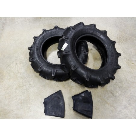 TWO New 8-16 BKT TR-144 Farm Tractor Lug R-1 Tires WITH Tubes