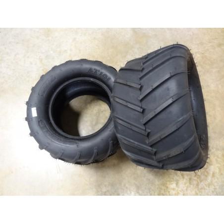 TWO New 24X12.00-12 Carlisle AT101 Chevron Lug Tires 4 ply TL for Zero Turn Mowers