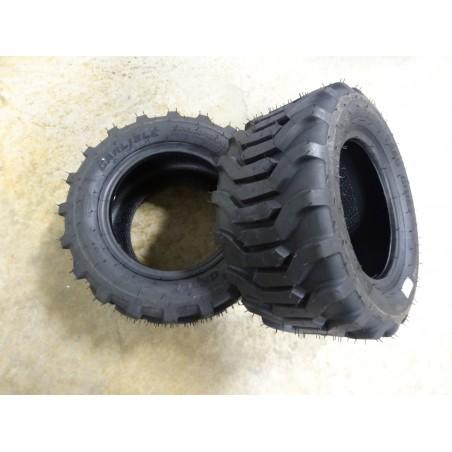 TWO 20X8.00-10 Carlisle Trac Chief R-4 Industrial Lug Tires 4 ply TL