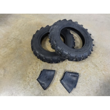 TWO New 6.00-16 BKT AS-504 Tractor Lug Tires 6 ply WITH Tubes