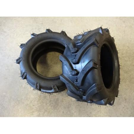 TWO New 18X8.50-10 OTR Lawn Trac Bar Lug Tires 4 ply TL
