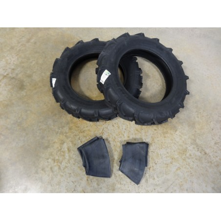 TWO New 5.00-15 BKT AS-504 I-3 Traction Implement Tires  6 ply WITH Tubes