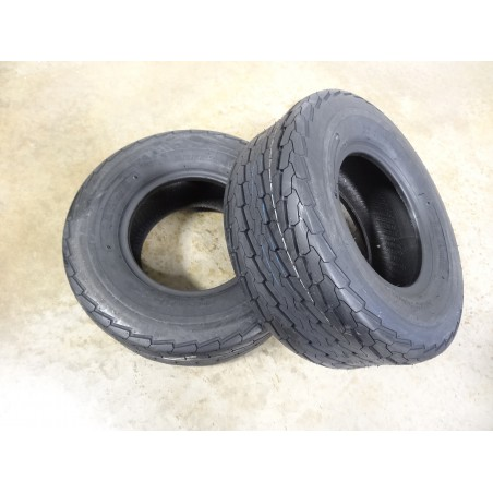 TWO NEW 20.5X8.0-10 Deestone D268 Trailer Tires 12 ply 20.5X8.00-10