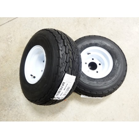 TWO 18.5X8.50-8 Hi-Run SU03 Trailer Tires 6 ply on 5 Hole Wheels 18.5X8.5-8