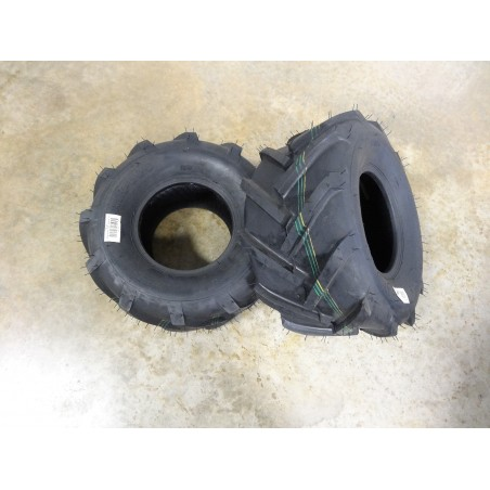 TWO New 18X9.50-8 Air-Loc R-1 Tractor Bar Lug Tires 4 ply TL