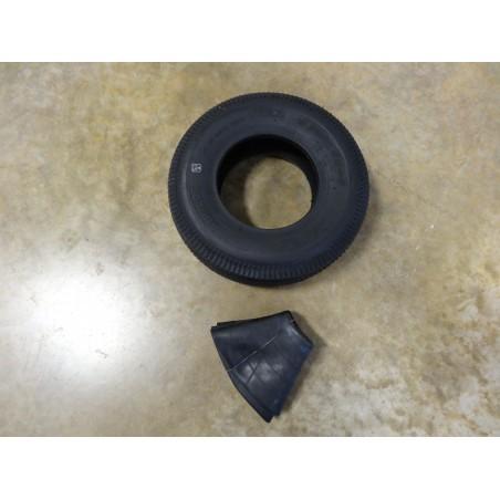 4.10/3.50-6 Air-Loc Sawtooth Tread Tire 4 ply with TR87 bent stem Tube