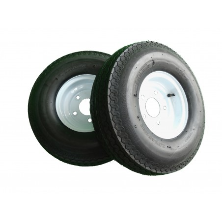 TWO 5.70-8 Deestone D901 Trailer Tires 8 ply on 5 Hole Wheels