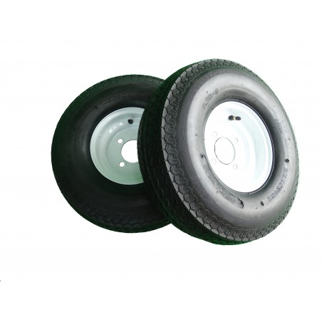 TWO 5.70-8 Deestone D901 Trailer Tires 8 ply on 4 Hole Wheels