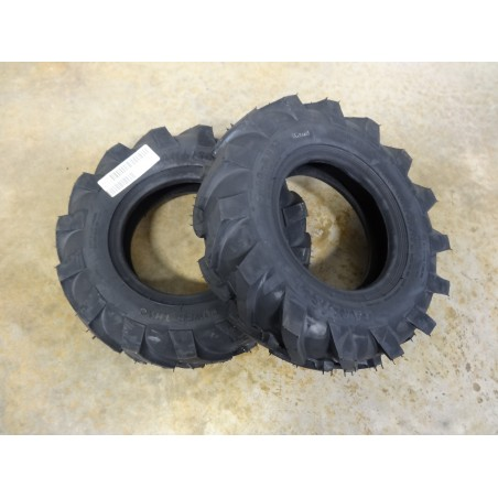 TWO New 4.80-8 Carlisle Power Trac R-1 Lug Traction Tires