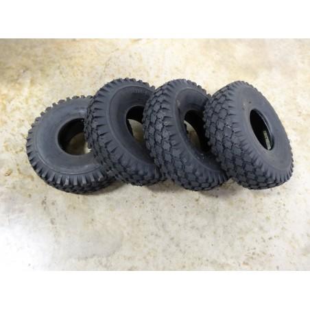 FOUR 4.10/3.50-4 Air-Loc Stud Tread Tires 4 ply Tubeless