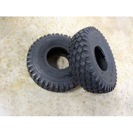 TWO 4.10/3.50-4 Air-Loc Stud Tread Tires 4 ply Tubeless