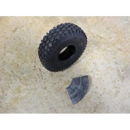 4.10/3.50-4 Air-Loc Stud Tread Tire 4 ply with TR87 bent stem Tube