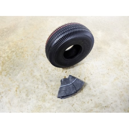 4.10/3.50-4 Air-Loc Sawtooth Tread Tire 4 ply with TR87 bent stem Tube