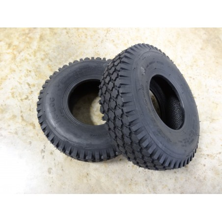 TWO 4.10/3.50-5 Air-Loc Stud Tread Tires 4 ply Tubeless