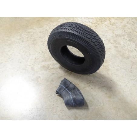 4.10/3.50-5 Air-Loc Sawtooth Tread Tire 4 ply with TR87 bent stem Tube