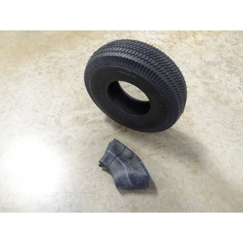 TWO 4.10//3.50-5 Air-Loc Sawtooth Tread Tires with TR13 straight stem Tubes