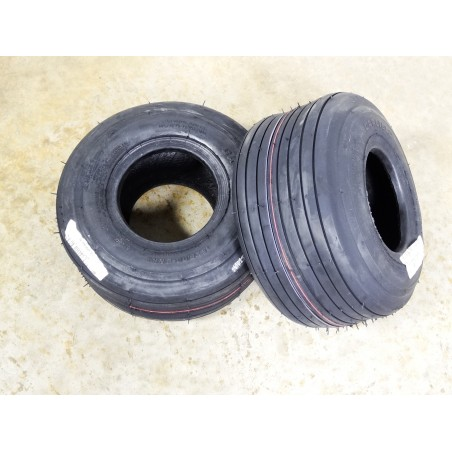 TWO New 15X6.00-6 Carlisle Straight Rib Tires Smooth Ribbed 4 ply  TL