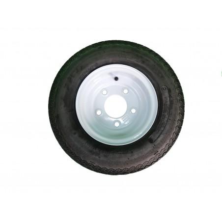 4.80-8 Deestone D901 Trailer Tire 6 ply on 5 Hole White Wheel