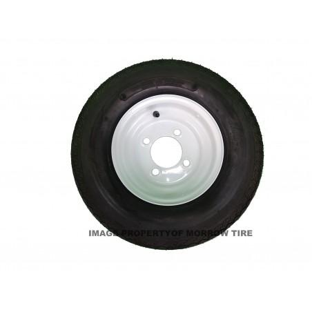 4.80-8 Deestone D901 Trailer Tire 6 ply on 4 Hole White Wheel