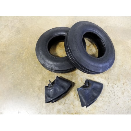 TWO New 4.00-8 Air-Loc H8023 Tri-rib 3 Ribbed Tires  4 ply WITH Tubes