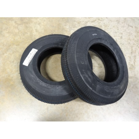 TWO 4.80-8 Carlisle Sawtooth Tread Tires 2 ply Tubeless NON HIGHWAY USE 4.80/4.00-8