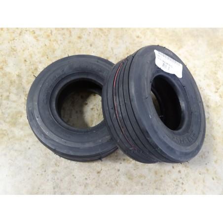TWO New 11X4.00-5 Carlisle Straight Rib Tires Smooth Ribbed 4 ply TL