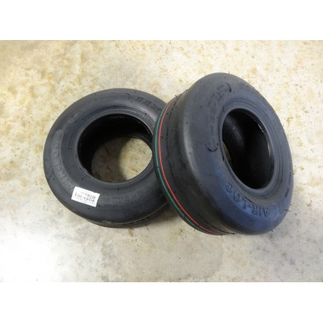 TWO New 11X4.00-5 Air-Loc P607 Smooth Slick Tires 4 ply TL