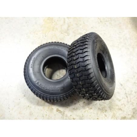 TWO New 11x4.00-4 Deestone D265 Turf Tires 4ply TL