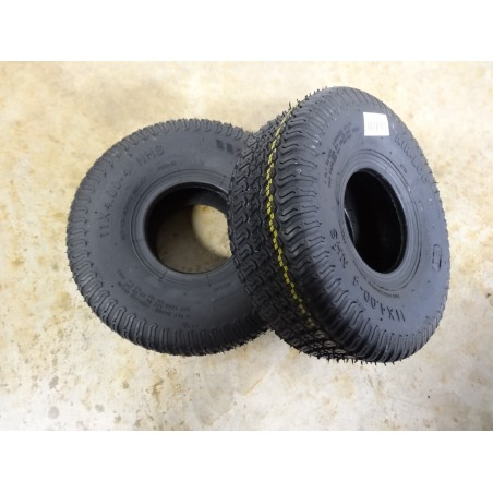 TWO New 11x4.00-4 Air-Loc P332 Turf Tires 4 ply  TL