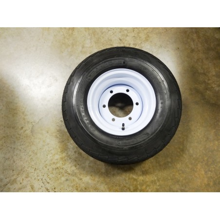 New 20.5X8.0-10 Deestone Trailer Tire 10 ply on 6 Hole Farm Implement Wheel