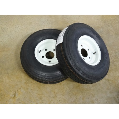 TWO 5.70-8 Hi-Run SU02 Trailer Tires 8 ply rated on 5 Hole Wheels
