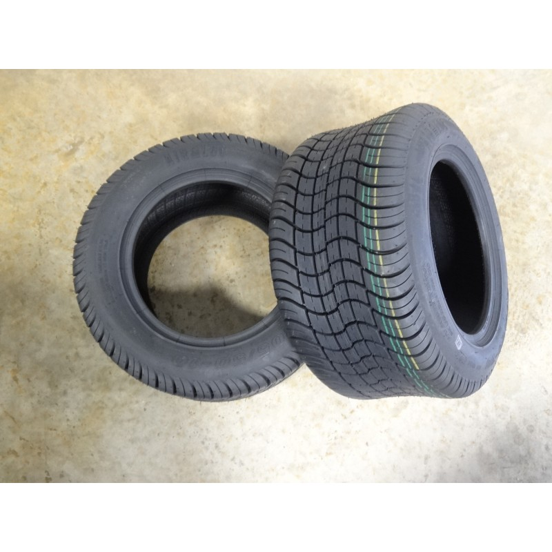 TWO New 205/50-10 Air-Loc Golf Cart Tires 6 PLY W/free