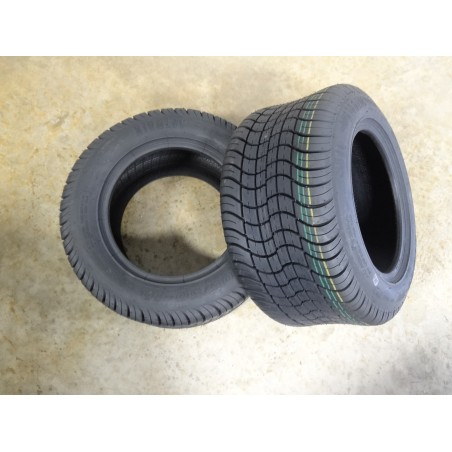 TWO New 205/50-10 Air-Loc Golf Cart Tires 6 PLY w/free stems DOT approved