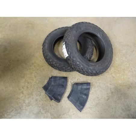 TWO New 6-14 Bridgestone Farm Service Diamond Turf Tread Tires WITH Tubes