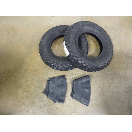 TWO New 6-12 Bridgestone Farm Service Diamond Turf Tread Tires WITH Tubes