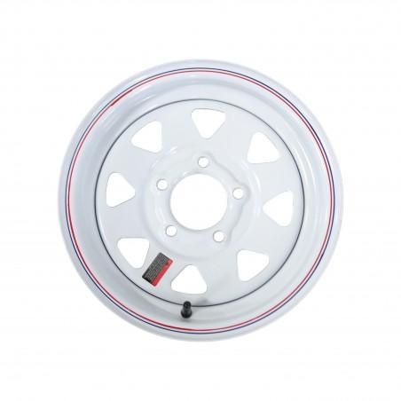 "13"" x 4.5"" White Spoke Trailer Wheel 5 lug on 4.5"" bolt circle"