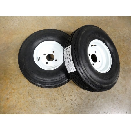 TWO 5.70-8 Hi-Run SU02 Trailer Tires 8 ply rated on 4 Hole Wheels