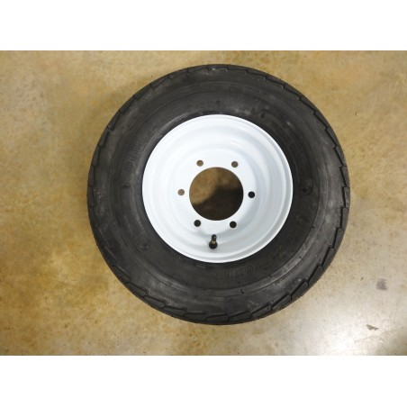 New 20.5X8.0-10 Deestone Trailer Tire 12 PLY on 6 Hole Farm Implement Wheel