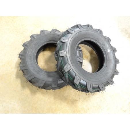 TWO New 4.80/4.00-8 OTR Fieldmaster XT R-1 Lug Traction Tires 4 ply TL 4.80-8